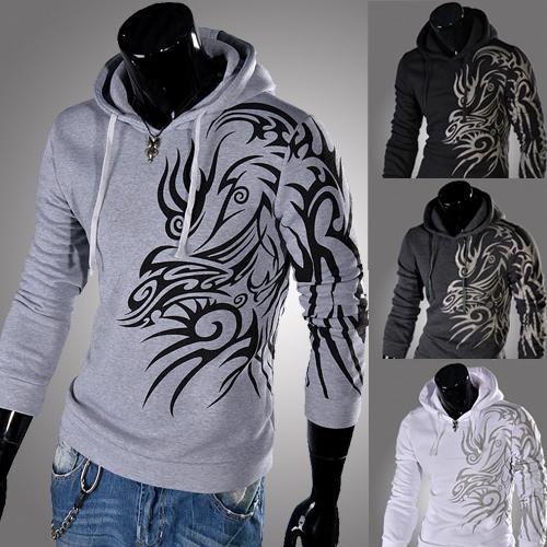 2017 Frühling neue Mens Persönlichkeit Art und Weise Hoodies dünner Druck Pullover mit Kapuze Sweatshirts der koreanischen Art Mann Pullover