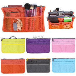 Wholesale Purse Organizer Liner - Lady's Cosmetic Storage Pouch Purse Large Liner Tidy Travel multi functional cosmetic bag in Bag organizer A handbag variety of colors