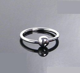 Wholesale stainless cockrings - Newest Male Penis delayed gonobolia Ring 304 Stainless Steel Adult Sex Toy For Couples Glans Jewelry Cockrings A040