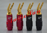 Y spade spade connector speakers - Pailiccs K gold plated speaker cable Y spades connectors