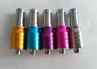 Wholesale Cartomizer For X9 - Colourful RAD cartomizer vaporizer mini RDA metal drip Rebuildable RDA atomizer RBA atomizer for X9 X6 ,K100 KTS electronic ecigarette