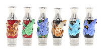 Wholesale Ce5 Stainless - 10pcs MOQ Frog Style Drip Tip Stainless Steel Drip Tips with Glass Frog drip tip EGO 510 Atomizer Mouthpieces Fit Kanger EVOD ce4 ce5