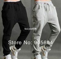 хип-хоп мешковатые штаны мальчики оптовых-2014 новые мужские случайные гарем мешковатые хип-хоп танец спортивные тренировочные брюки мальчики брюки бег трусцой брюки s мешковатые тренировочные брюки