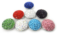 Wholesale Ball Metal Bracelet - Free shipping New arrival rhinestone shamballa pave ball chunk bracelet 8 color assorted metal charm chunks leather bracelet