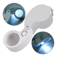 Wholesale Power Magnifying Glass - Free Shipping 1 Piece New 40 X 25mm Power Jeweler Magnifying Loupe Loop Magnifier Glass With LED Light