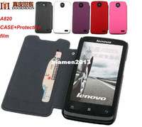 Wholesale Doormoon Case - Original Doormoon Genuine Sheepskin PU Leather Case For Lenovo A820 5Colors 1pcs lot Freeshipping with Protective film