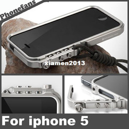 Wholesale Iphone Retail Bumper Aluminium - 5s Super Mechanical Arm Aluminium Bumper Case For iPhone 5 5s 5g Metal Frame Cover With Retail Packaging, Free Screen Protector
