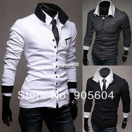 NEW 2014 Fashion Men's Casual Cardigan Stylish Slim Fit Buttons Long Sleeves Knit Cotton T-Shirt Man Polo Shirt Tops Blouses