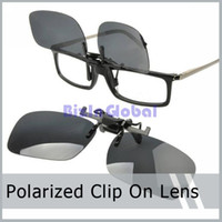 Wholesale Wholesale Clip Sunglasses - 5 X Sunglass Clip On Flip Up Polarized Sunglasses Clip Fashion Sunglass Holder with retail box