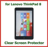 pantalla de lenovo thinkpad al por mayor-10pcs claro protector de pantalla LCD para Lenovo ThinkPad 8 Tablet PC 8.3 pulgadas con cámara película protectora agujero
