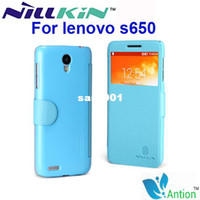 Wholesale Nillkin Fresh Series - Lenovo S650 case,Nillkin Fresh series open-window series flip leather(pu) cover case for Lenovo S650 free shipping.