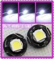 Wholesale Alpina Bmw - 10pcs Free Shipping T4.7 LED Lamp Car Gauge 5050 1 SMD Dashboard Auto Car Side Light Bulb