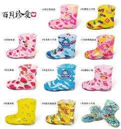 Wholesale Toddler Boy Winter Cartoon Boot - 2014 Kids Rain Boots Rainboots Toddler Waterproof Rain Shoes Galoshes Antiskid 12 Designs Boys Girls Cartoon Watershoe Colorful Shoes C2104