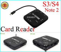 Wholesale Galaxy Connection Kit - All in One Card reader 3 Ports Micro USB 2.0 HUB For Samsung Galaxy S3 S4 Note 2 8 Tab 3 Connection Kit OTG Card Reader
