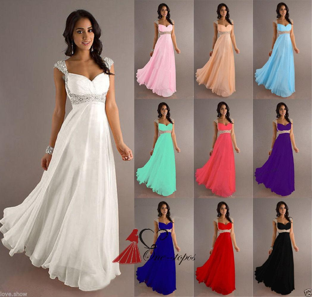 Light Wedding Dresses For Abroad: 2014 Cheap Summer Empire Chiffon Bridesmaid Dress Crystal