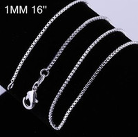 Fashion Jewelry 925 sterling silver 1mm Aberdeen Box CHAIN N...
