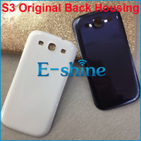 Wholesale Galaxy S3 Original Cover - Galaxy S3 Original Replacement Back Housing Cover Plastic Battery Door for Samsung Galaxy S3 SII i9300 3 colors