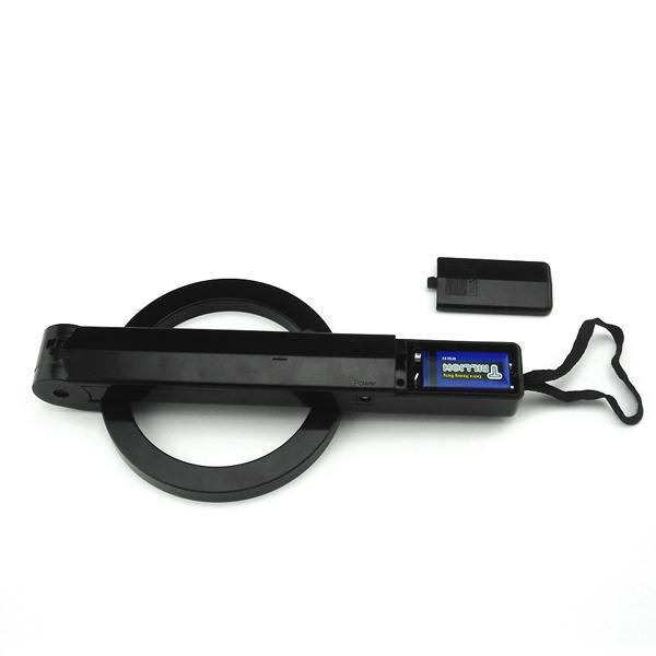 العلامة التجارية الجديدة المحمولة قابلة للطي باليد حساس للكشف عن المعادن الماسح الضوئي شحن مجاني الأسود