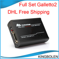 Wholesale Ship Tunning - DHL Free Shipping Galletto 2 Master V52 super ECU Chip Tunning tool FG Tech Galletto2 Support BDM function