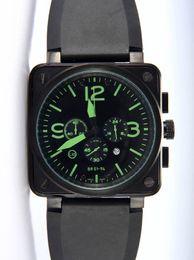 Wholesale Vintage Steel Box - Luxury Men Quartz Chronograph Watches Best Brands Black Rubber Day Date Swiss Vintage Square Stopwatch Modern Mens Sport Wristwatch Gift Box