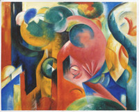 Wholesale Marc Painting - Free Shipping Little Composition III by Franz Marc, Home Decoration Wall Art Painting H-0156