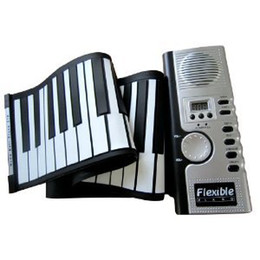 Wholesale Digital Keyboard Piano - Soft Roll Up Electronic Flexible Piano Keyboard 61 Keys Foldable Soft Portable Electric Digital
