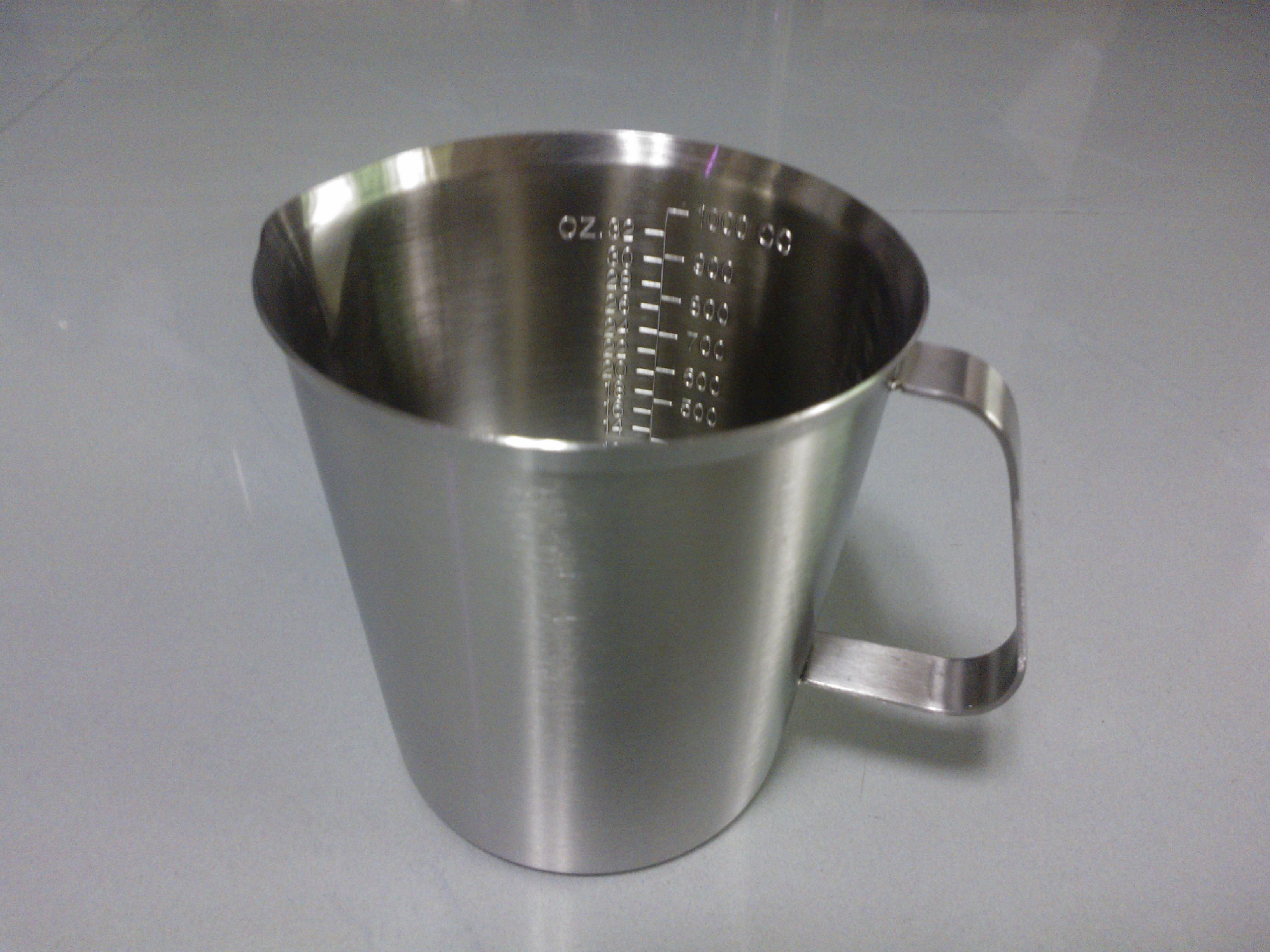 2019 1000ml Taper Shaped Thick 304 Stainless Steel