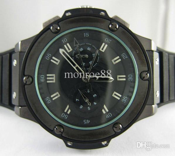 Luxury Swiss Best Brands Black Pvd Stainless Rubber Watch Buckles