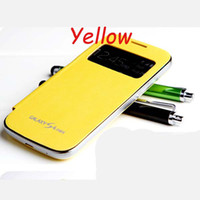 Wholesale Galaxy S4 Cases Low Prices - Low Price Hot Luxury Super fiber PU Flip Leather Battery Door Housing Case For Samsung Galaxy S4 Mini I9190 Cover Skin+1 Free Screen Flim
