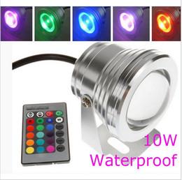 Controladores de aquário on-line-10W quente / legal branco RGB LED Pool Light 12V lâmpada subaquática Waterproof IP68 Aquarium Lamp Fountain Lights With 24 Keys Remote Controller