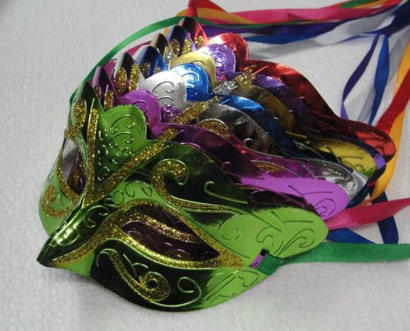 2014ミックス注文100ピーズプロモーション販売パーティーマスク溶接ゴールドファッションマスカレードベネチアンカラフル