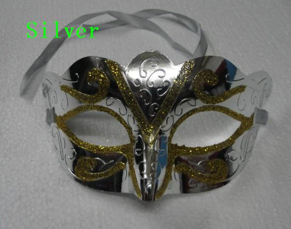 25 unids / lote máscara de moda oro brillante plateado máscara de la boda accesorios de la boda mascarada máscara de mardi gras