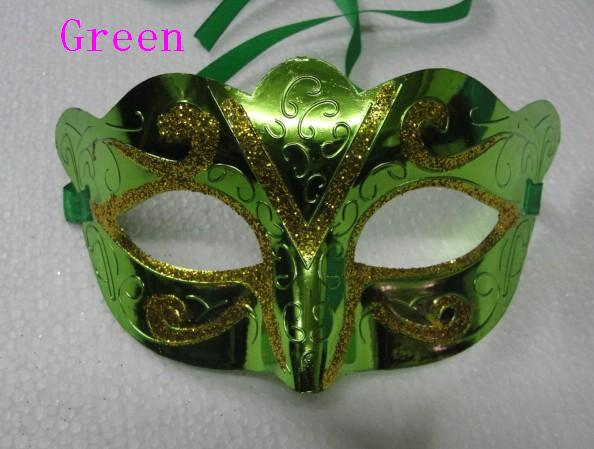 25 pçs / lote máscara de moda de ouro brilhante banhado a máscara do partido adereços de casamento masquerade mardi gras máscara