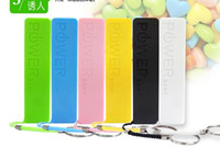 Wholesale Perfume Mobile Phone Power Bank - 2600mAh powerbank Portable Battery External Power Bank perfume plastic Charger For Universal Mobile Phone 6 Color Mixed with Retail box