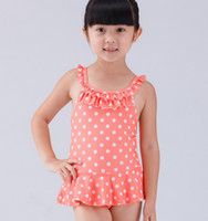 Wholesale Boys Bathers - Free Shipping Girl Princess Baby Kid Swimsuit Swimwear Swimming Costume Bathers +Caps