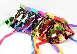 Wholesale Masquerade Party Props - 25pcs lot paintball mask gold shining plated party masks darth vader props masquerade mardi gras mask