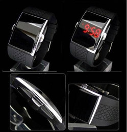 Lighting Calendar NZ - Drop Shipping Best Gift Men's Luxury Date Digital Sport Led Watch With Red Light LED watches
