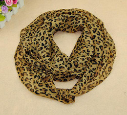 Wholesale Sex Multi Style - New 90*90 CM Lady's Scarf Fashion Big Kerchief Chiffon Leopard Pattern Scarves Women Elegant Sex Style