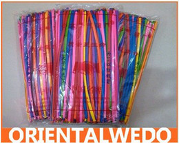 Wholesale Wholesale Price Cake Toppers - Wholesale price 200 pcs Mix-color Assorted Latex Long Balloon Wedding Birthday Party Decoration 30cm long Mixed bright color