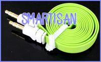 poste de gato al por mayor-China post aire 3.5mm Audio AUX Extensiones de Coche Cable de Fideos Auxiliar Estéreo Jack Macho Para Mp3 IP HTC 1 M / 3FT de Longitud