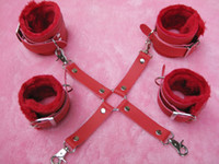 Wholesale Slave Cross - Lady Slave BDSM Bondage Gear Restraints Games PU Cross Wrist Ankle Cuffs Hand Leg Cuff Restraints Adult Products Toys XLY1166