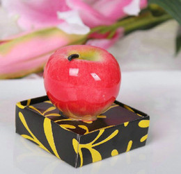 Wholesale Apple Candle Favors - 20PCS Wedding Favors Party Valentine's Gifts Bridal Shower Tempting Apple Candle
