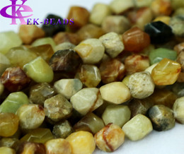 """Wholesale Free Hand Cutting - Discount Wholesale Natural Genuine Rainbow nephrite Jade Nugget Loose Beads Hand Cut Free Form 8-10mm Fit Jewelry DIY Necklace 16"""" 02722"""