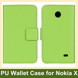 Wholesale Function Sample - Wholesale New Arrive PU Leather Wallet Flip Cover Case for Nokia X with Folding Function Free Shipping