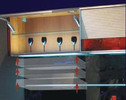 Wholesale Spot Led Slim - LED Spot Lights built-in Door sensor Switch Light Aluminum Slim Puck Light SMD 9leds For Cabinet Drawer Closet Display