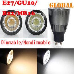 Wholesale E27 Led Bulb 9w Lumen - 5 piece real high power 9W COB led bulb SpotLight 840 Lumen GU10 E27 B22 Cool White Warm dimmable nondimmable lamp Indoor Lighting