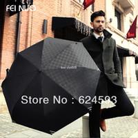 Wholesale Men Umbrella Folding - 2013 High quality Luminous Men fully-automatic folding umbrella beach rain umbrella Free shipping