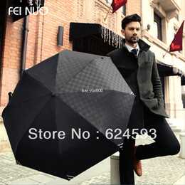Wholesale Beach Umbrella Fabric - 2013 High quality Luminous Men fully-automatic folding umbrella beach rain umbrella Free shipping