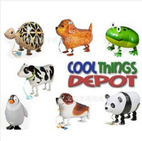 Wholesale Inflatable Wholesale Ballons Kids - 18 inches aluminum balloons inflatable walking pet animal foil ballons New kids toys birthday party supplies wedding decoration