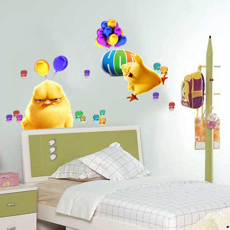 Minion Wall Decor hop despicable me 2 minion movie decal wall stickers cute chicken
